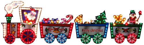 36 H Lighted Christmas Train At Menards Christmas Train Christmas Yard Decor