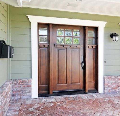 front doors for homes | Choose a front door stain or paint that ...