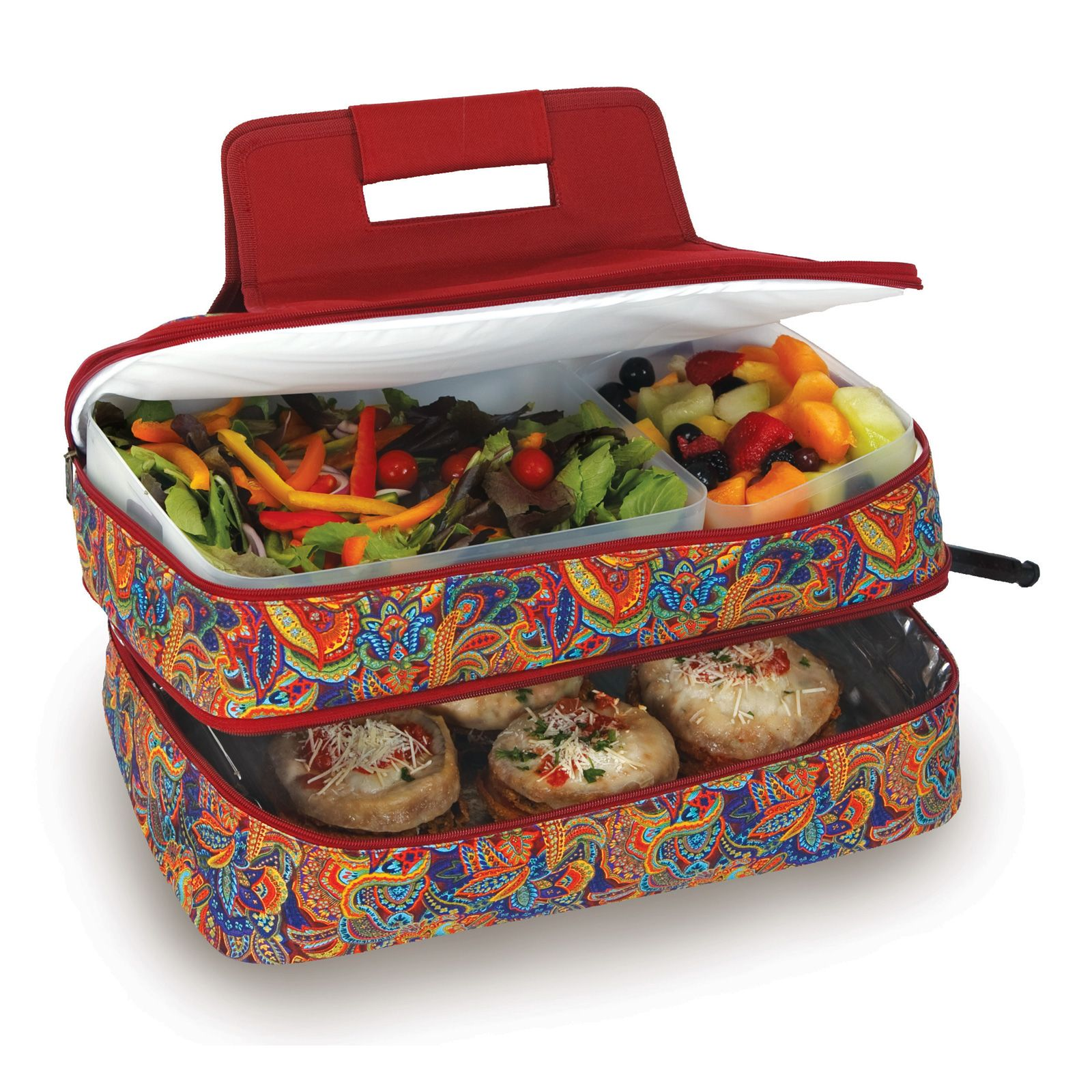 Entertainer hot cold food carrier by picnic plus