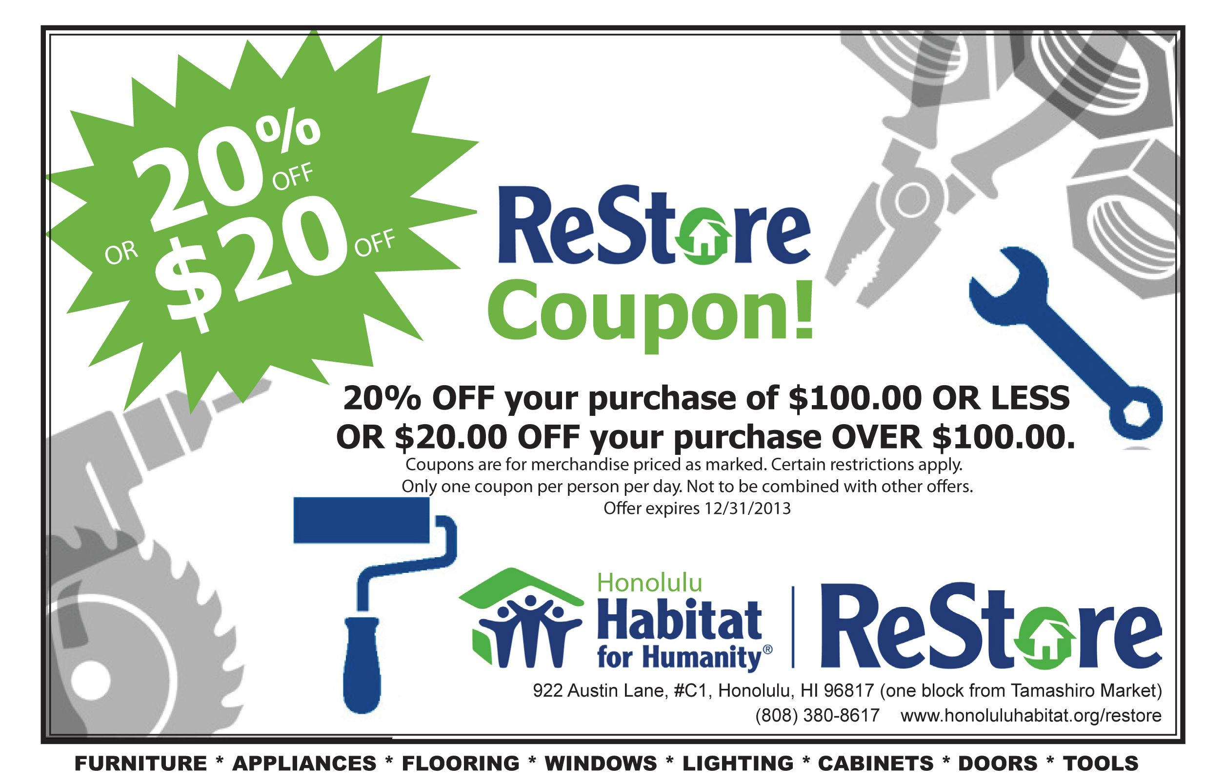 restore coupon volunteer habitat restore etc pinterest restore coupon