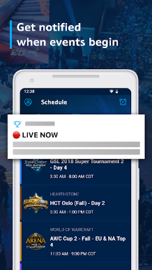 Watch live events with teams competing globally in
