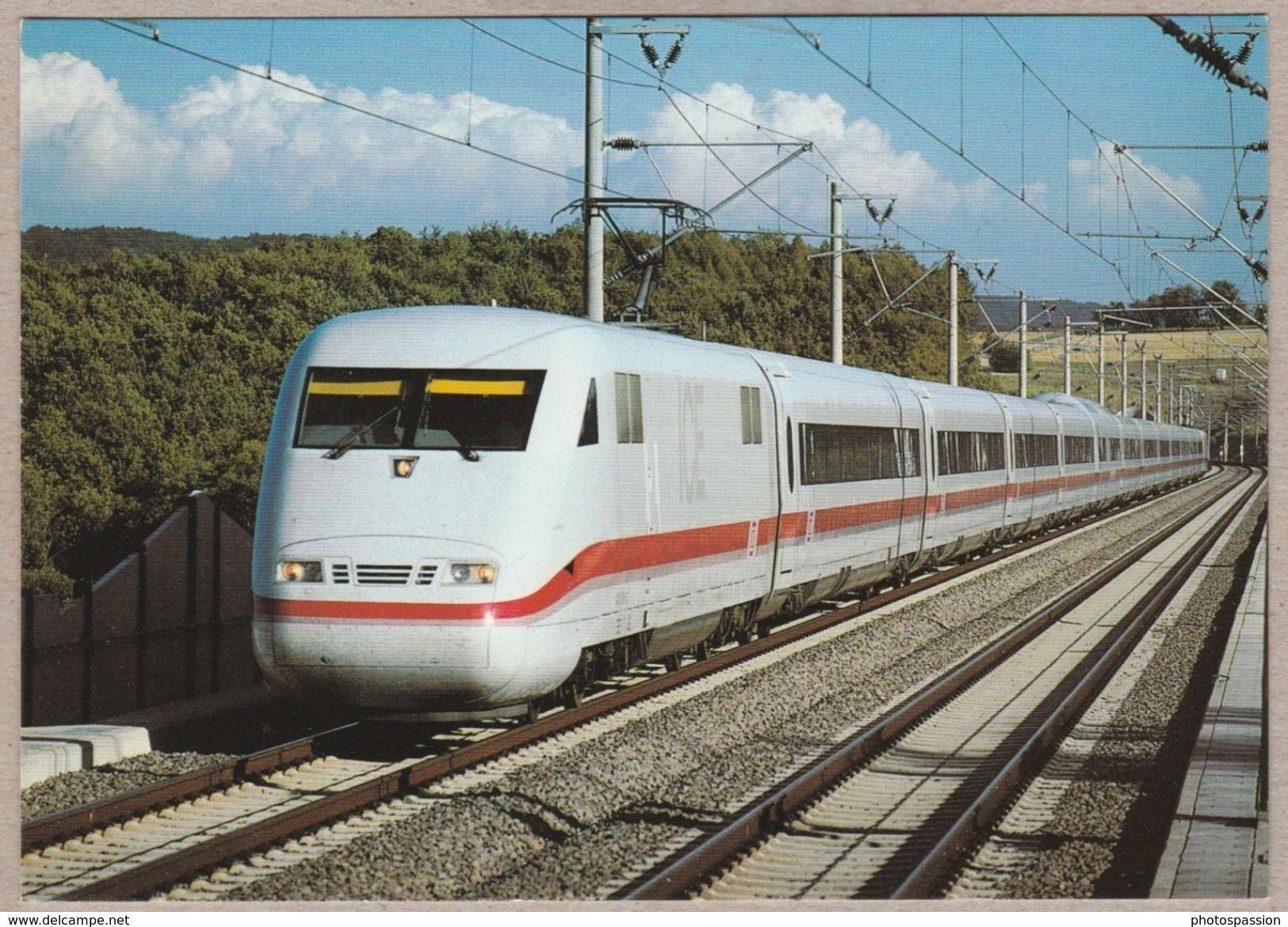 DB ICE im Juli 1991 auf der Neubaustrecke Stuttgart