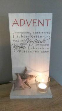 Holzschild dekoratives Zeichen Advent BHT: ca. 19 * 35 * 10cm Zuschlag für Dekoration 2,5 …   – Alles DEKO