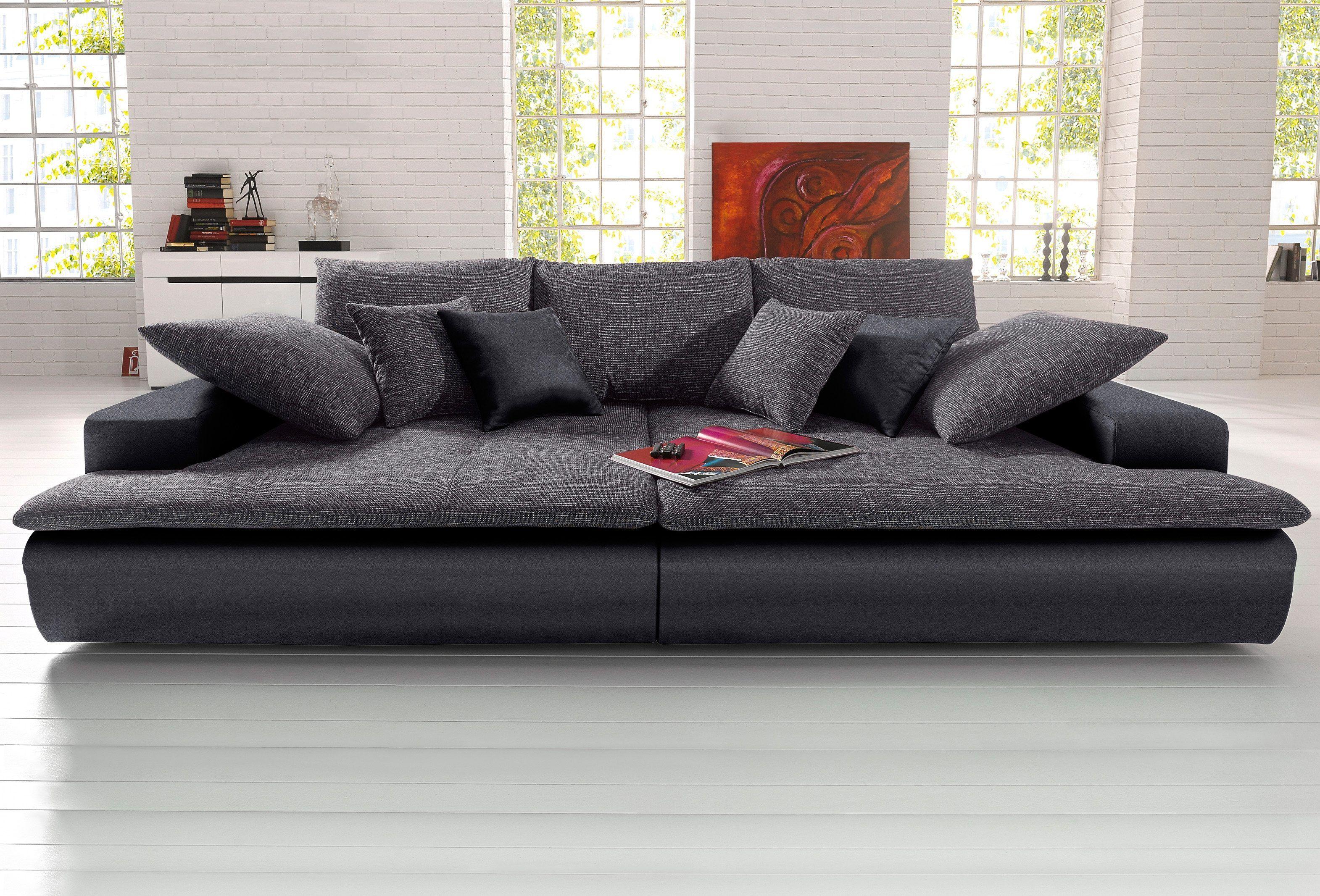 Bigsofa Schwarz 260cm Breite Fsc Zertifiziert Inklusive Loser Zier Und Ruckenkissen Yourhome Jetzt Bestellen Unter Https Moeb Moderne Couch Sofa Sofas