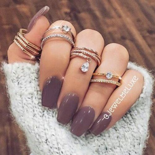 Best Winter Nails For 2018 65 Cute Winter Nail Designs Mauve Nails Winter Nails Trendy Nails