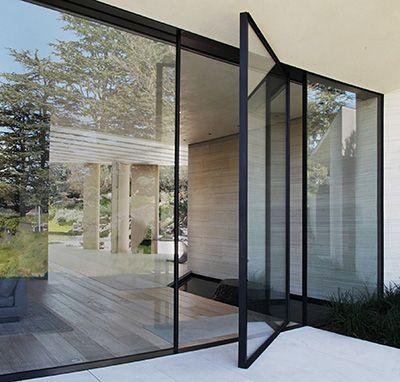 The Invisible Wall System Pivot Doors Patio Doors Glass Door