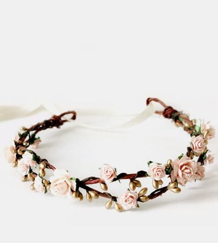Sweet Floral Paper Flower Crown by Roses and Lemons on Scoutmob Shoppe