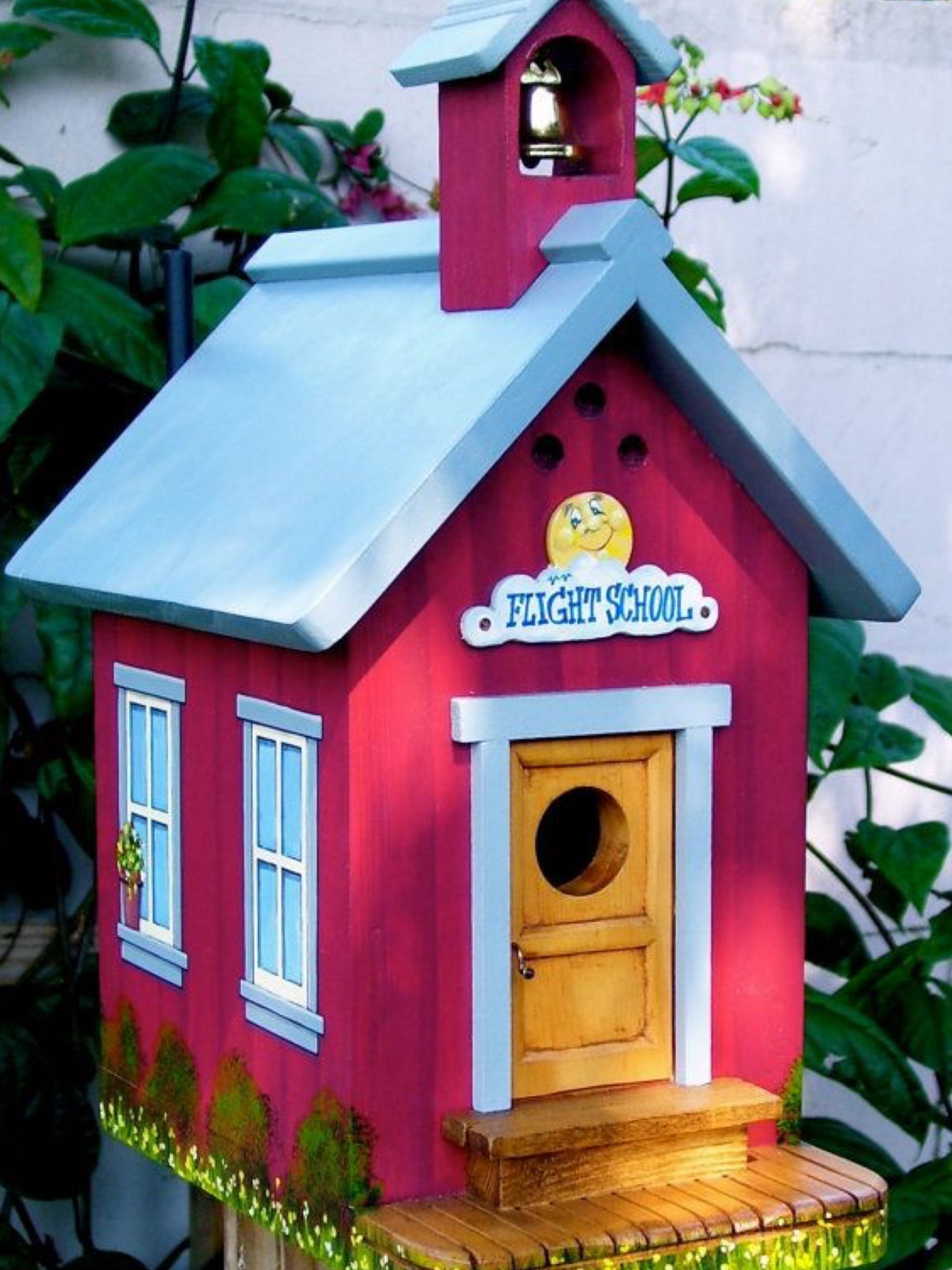 flight school where little birdies go to school birdhouse rh pinterest com