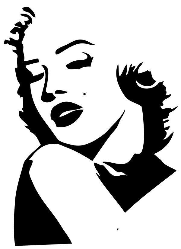 Marilyn Monroe Stencil By Purplepoisonlily On Deviantart Marilyn Monroe Stencil Silhouette Art Silhouette Stencil