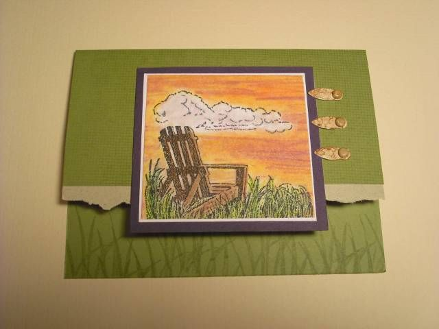 Olive Sunset using Stampin Up Along the Shore