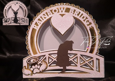 Cricut SVG Template RainBow Bridge Card Dog & Cat in 2020