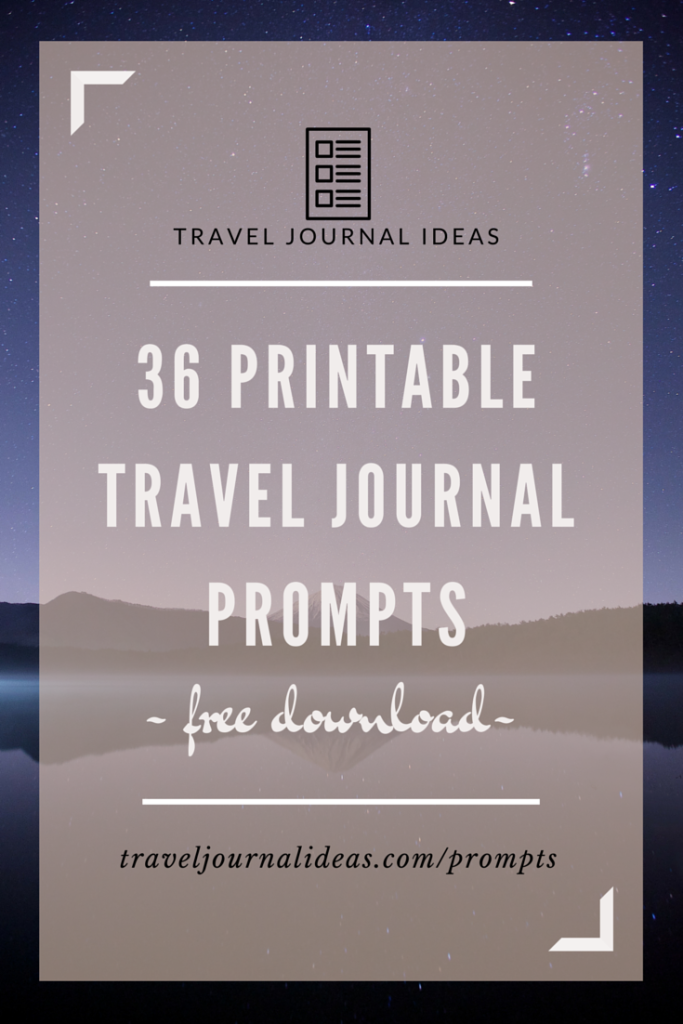 graphic regarding Travel Journal Template Printable titled 36 Free of charge Printable Generate Magazine Prompts  Push Magazine