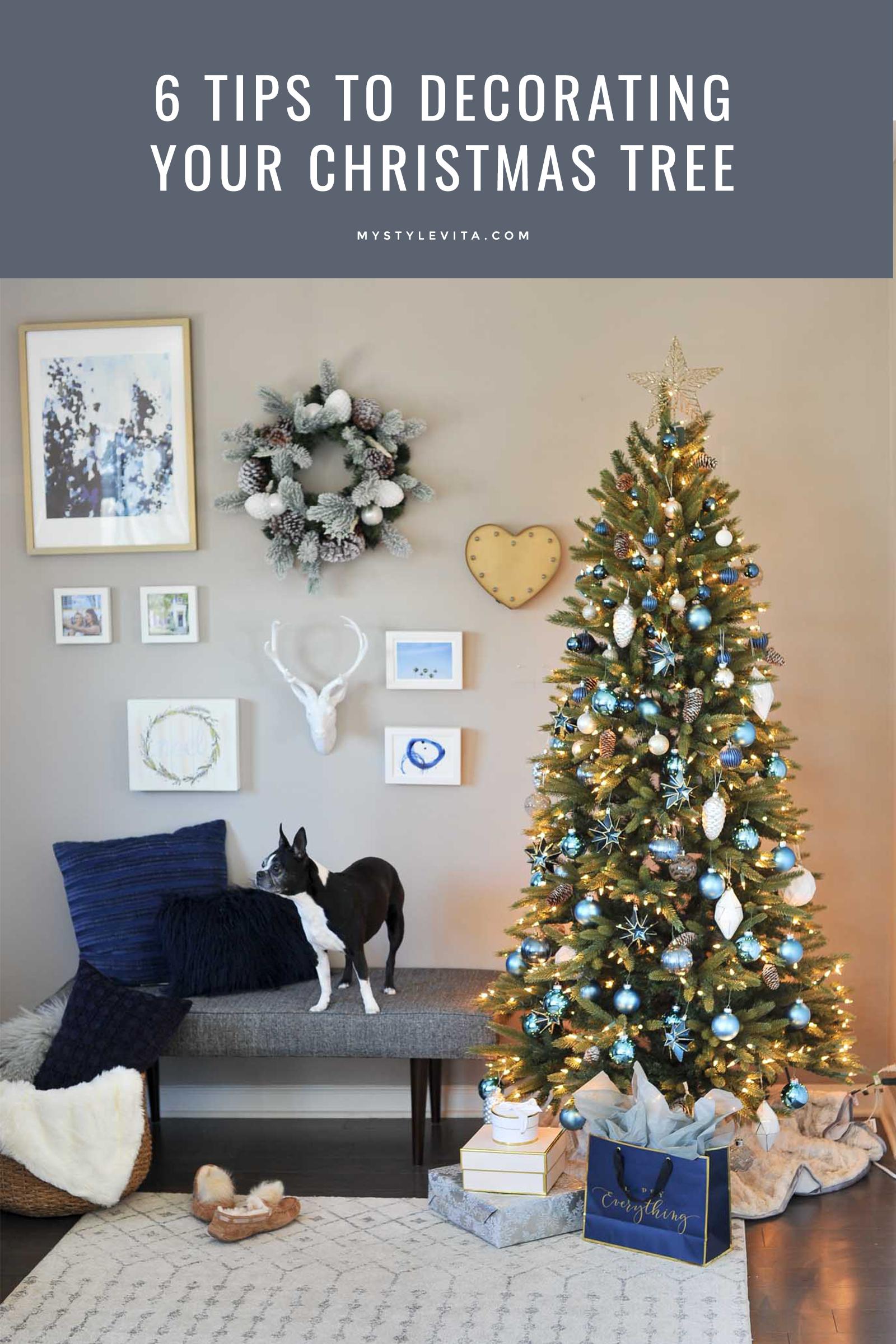 6 Tips To Creating A Pretty Christmas Tree | Blue christmas decor ...