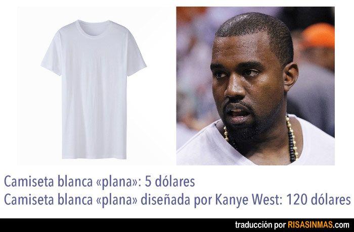 El Chollo De Las Camisetas De Kanye West Plain White T Shirt Shopping Outfit Tshirt Designs