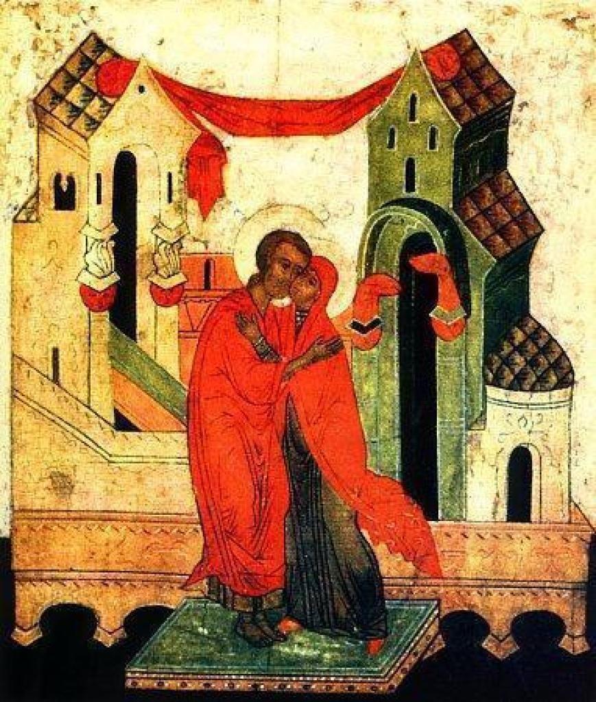 Икона «Целование Иоакима и Анны у Золотых ворот» | Христианское искусство, Религиозное искусство, Святые