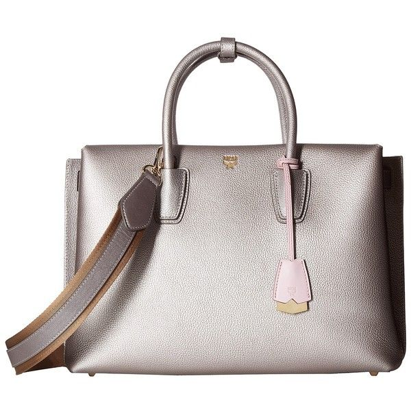 mcm milla large tote spike silver tote handbags liked on - Large Tote Bags