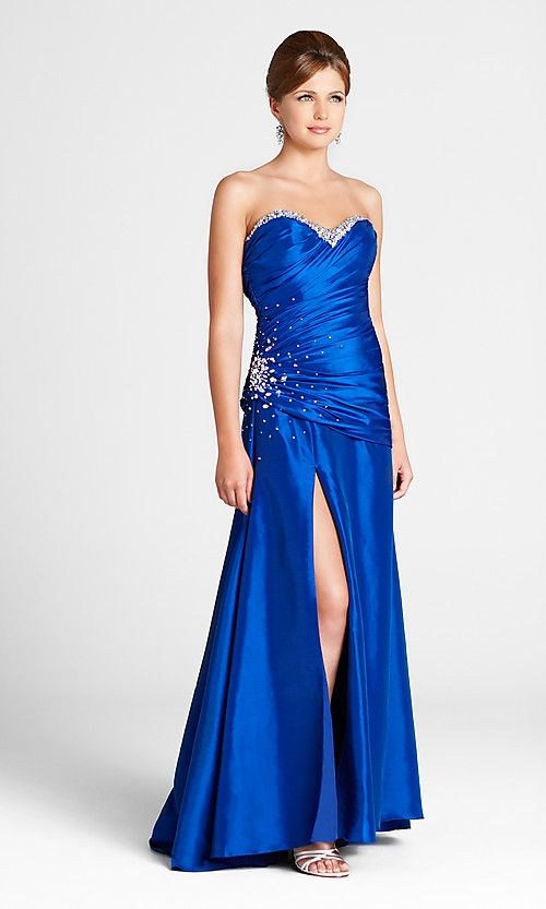 blue dresses   ... Strapless Prom Dresses and Evening Gowns ...