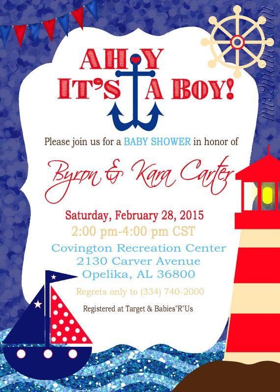 Ahoy it's a Boy Invitation-Ahoy its a Boy Baby Shower ...