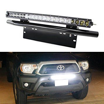 Ijdmtoy complete set 100w high power cree led light bar with bullbar ijdmtoy complete set 100w high power cree led light bar with bullbar style front bumper license mozeypictures Gallery