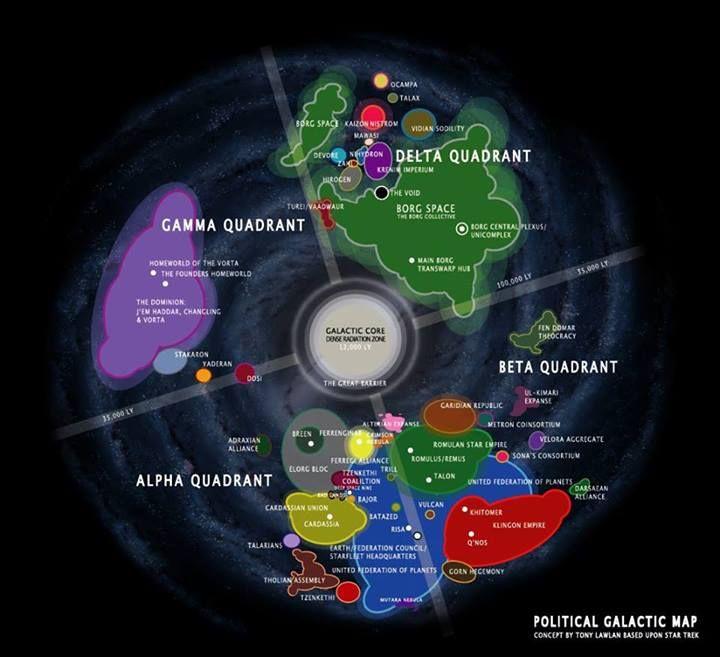 Star Trek Galaxy Map Galaxy Map | Star Trek | Star trek universe, Star trek starships