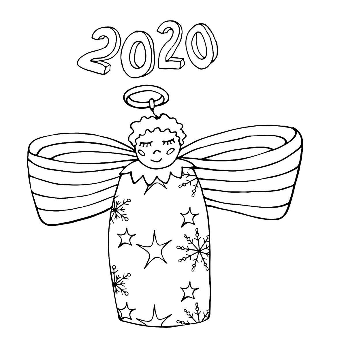 New Year January Coloring Pages Printable Fun To Help Kids Welcome 2020 Printab Witch Coloring Pages Kids Printable Coloring Pages Abstract Coloring Pages