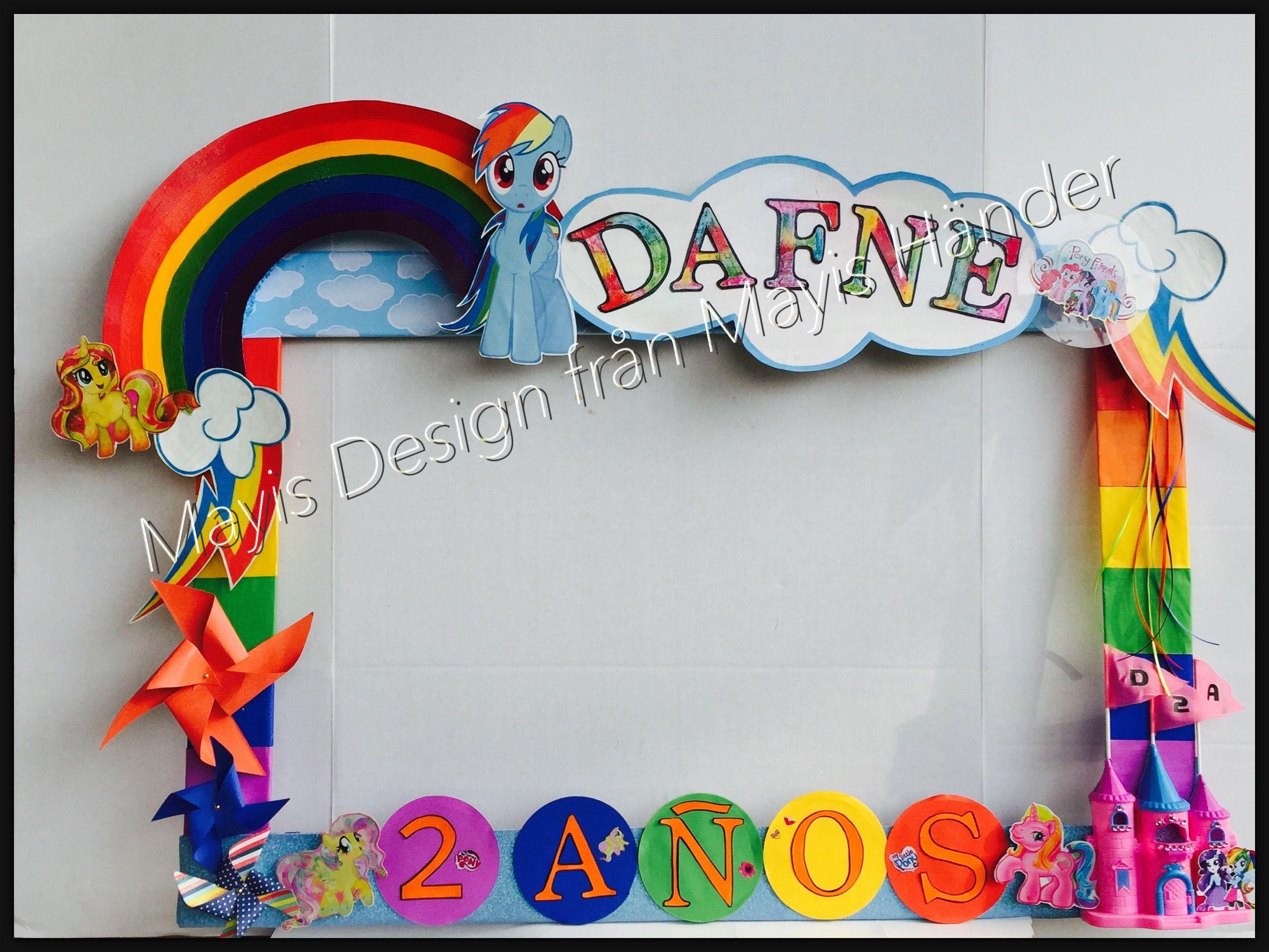 My little pony photo frame. MArco para fotos de my little pony ...