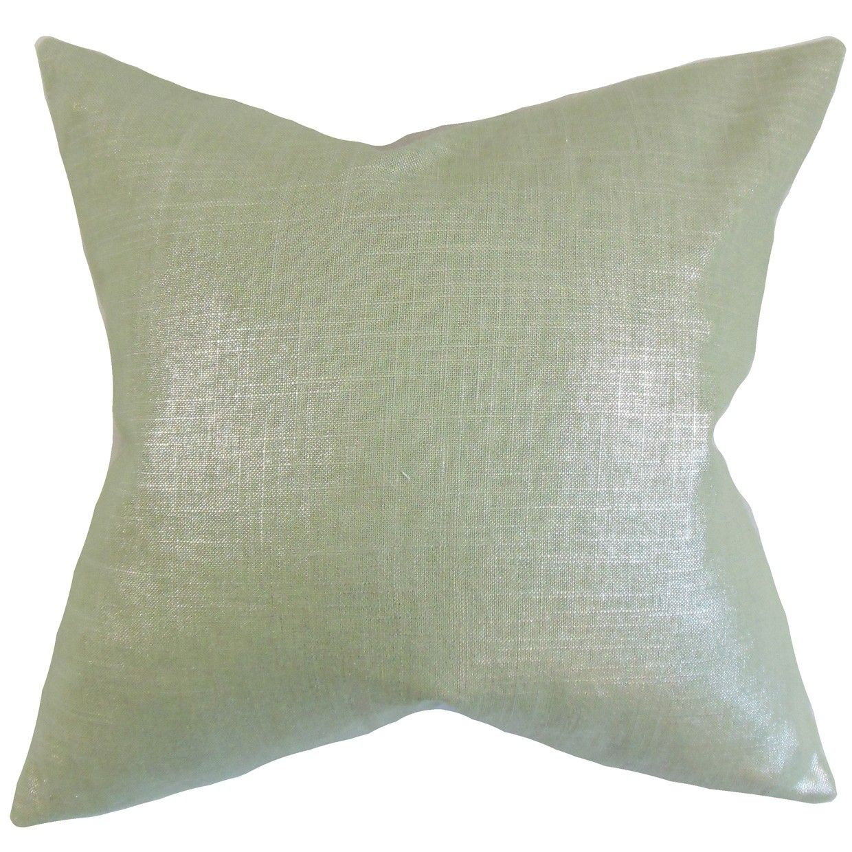 Florin Solid Pillow Aqua Aqua Throw Pillows Solid Throw Pillows The Pillow Collection