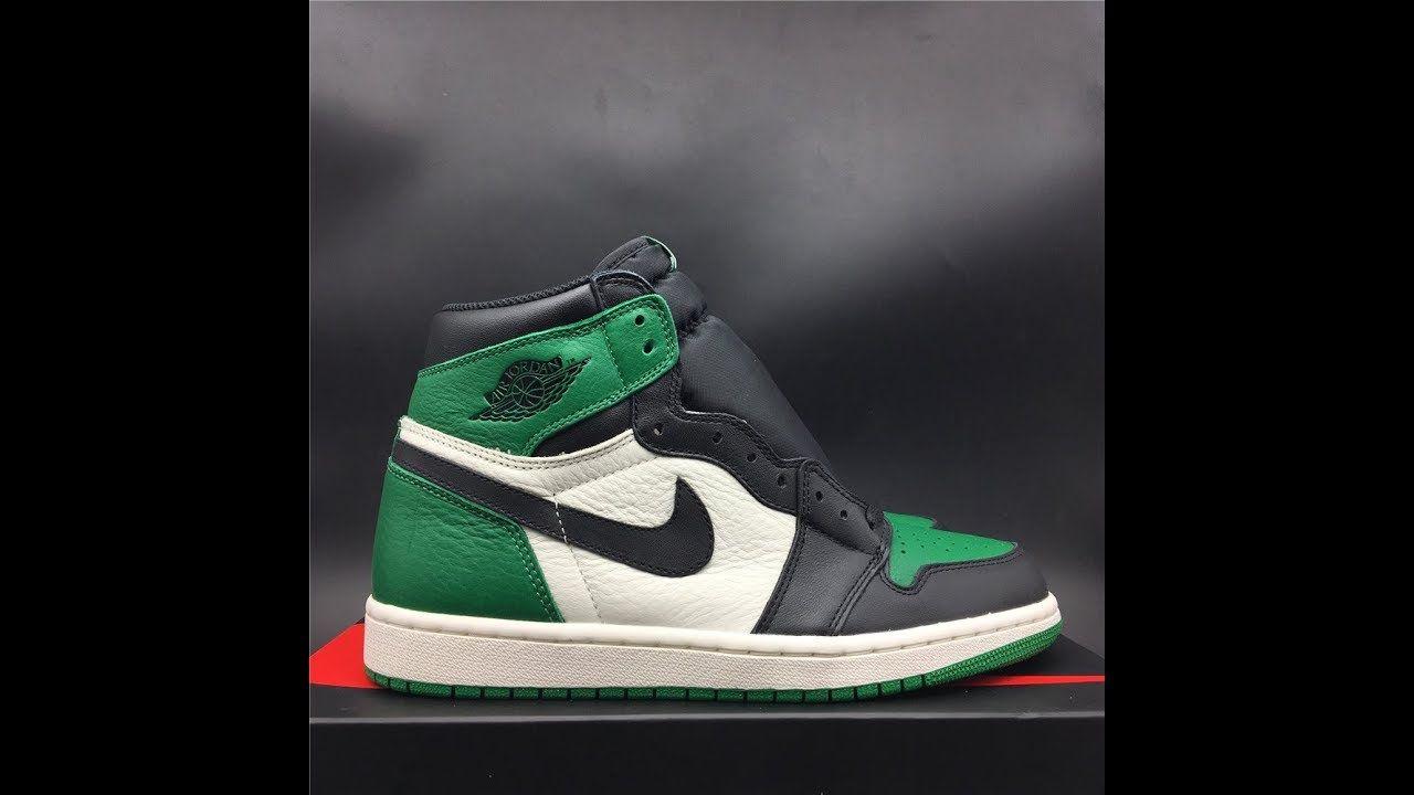 391d5e6e149941 Unboxing Air Jordan 1 Pine Green From aj23shoes net1