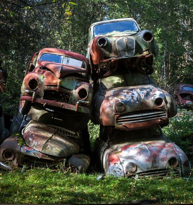 10 Abandoned Cars Overtaken By Nature