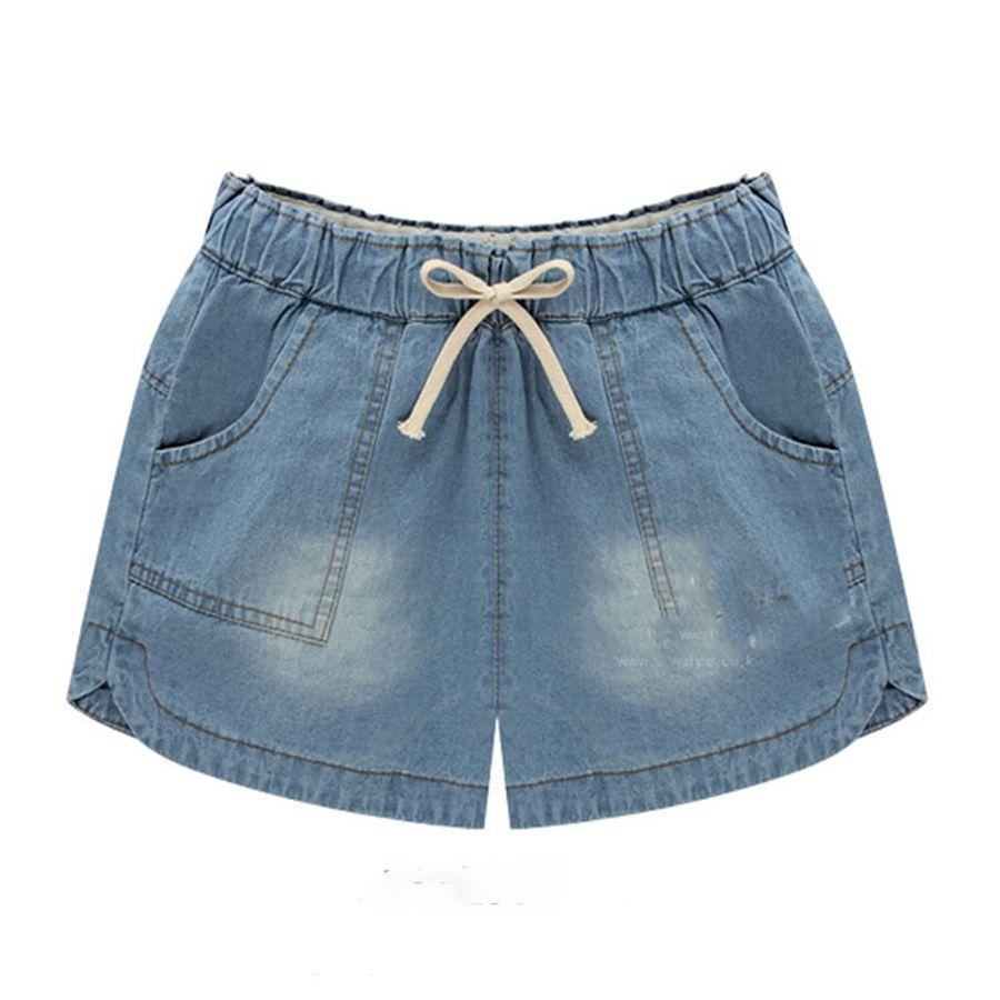 cb387687b73 Women Casual Elastic Waist Plus Size Jeans Shorts In Summer Loose 4xl 5XL  Vero Denim Shorts Beach Hotpants