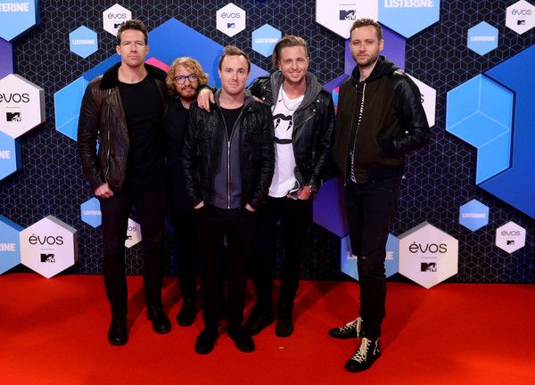 (EXCLUSIVE COVERAGE) Zach Filkins,  ..Ryan Tedder, Eddie Fisher, Brent Kutzle and Drew Brown of One Republic attend the MTV Europe Music Awards 2016 on November 6, 2016 in Rotterdam, Netherlands.