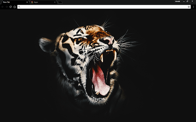Black Tiger Google Chrome Theme Wallpaper Ultra Hd 4k Wallpaper Chromebook