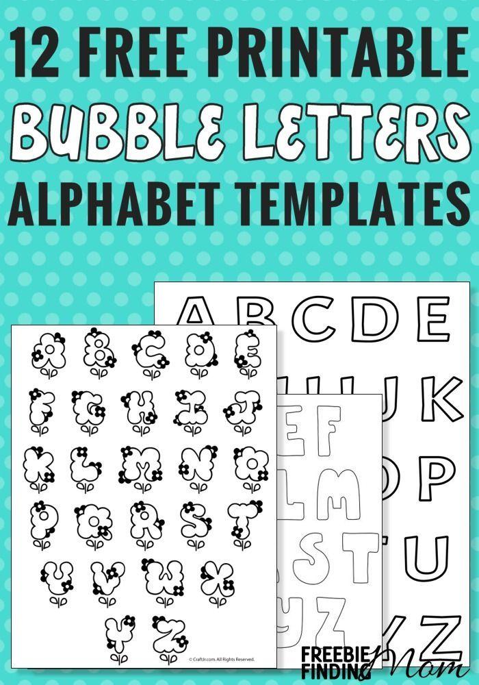 12 Free Printable Bubble Letters Alphabet Templates ...