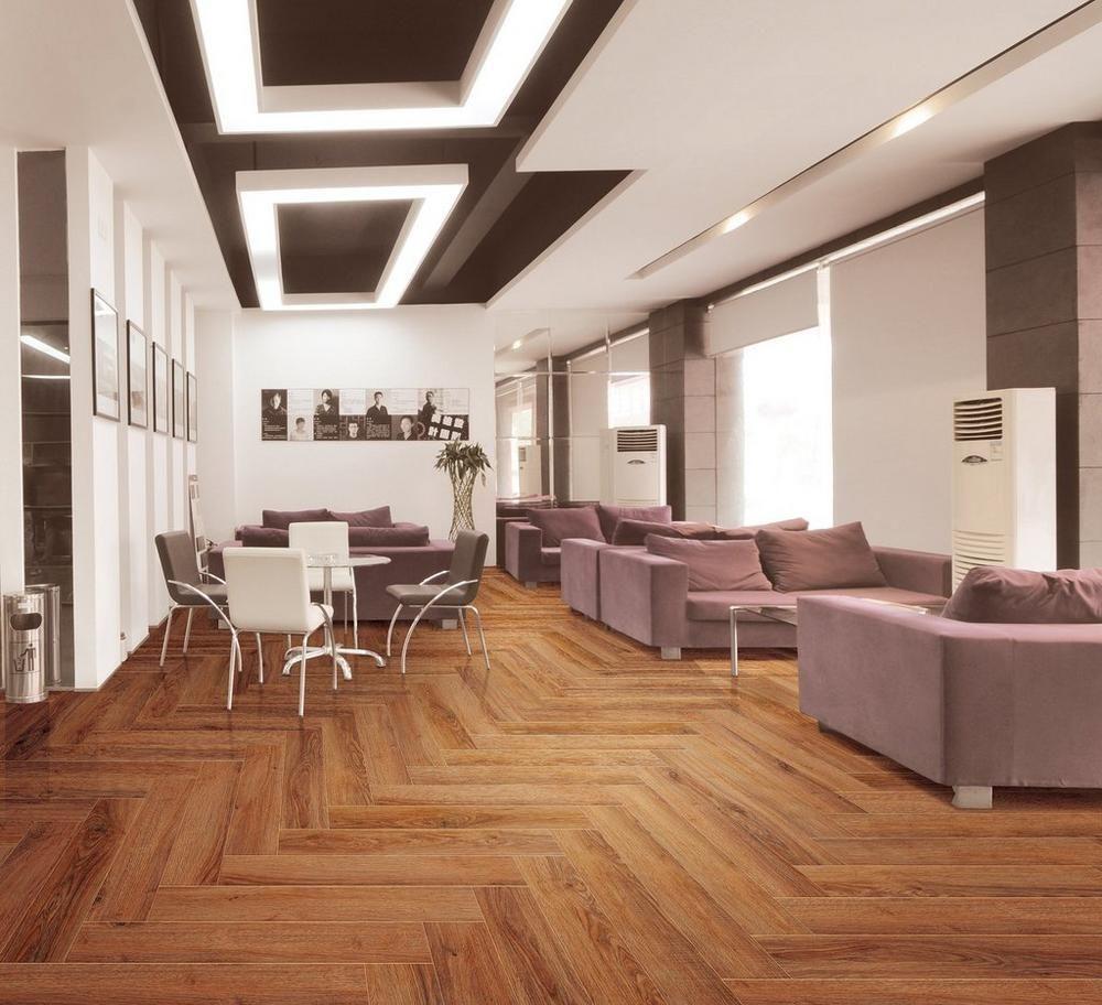 Fulham Red Wood Plank Ceramic Tile 6in X 32in 100131457 Floor