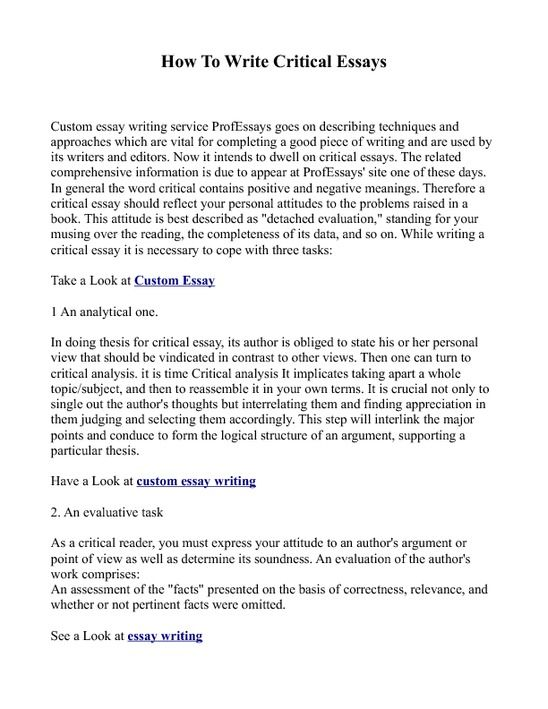 What is critical thinking essay