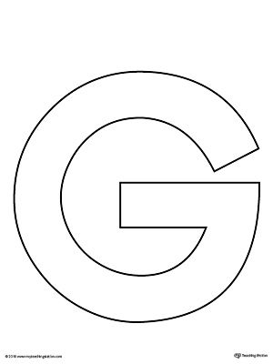graphic regarding Letter G Printable titled Uppercase Letter G Template Printable Prek Letter Producing