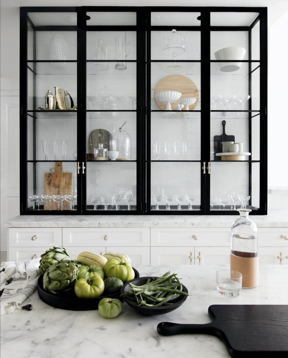 Trending The New Look Of Kitchen Shelving Black Metal Frame Kitchen Cabinets The Identit Glass Kitchen Cabinets Interior Design Kitchen Home Decor Kitchen