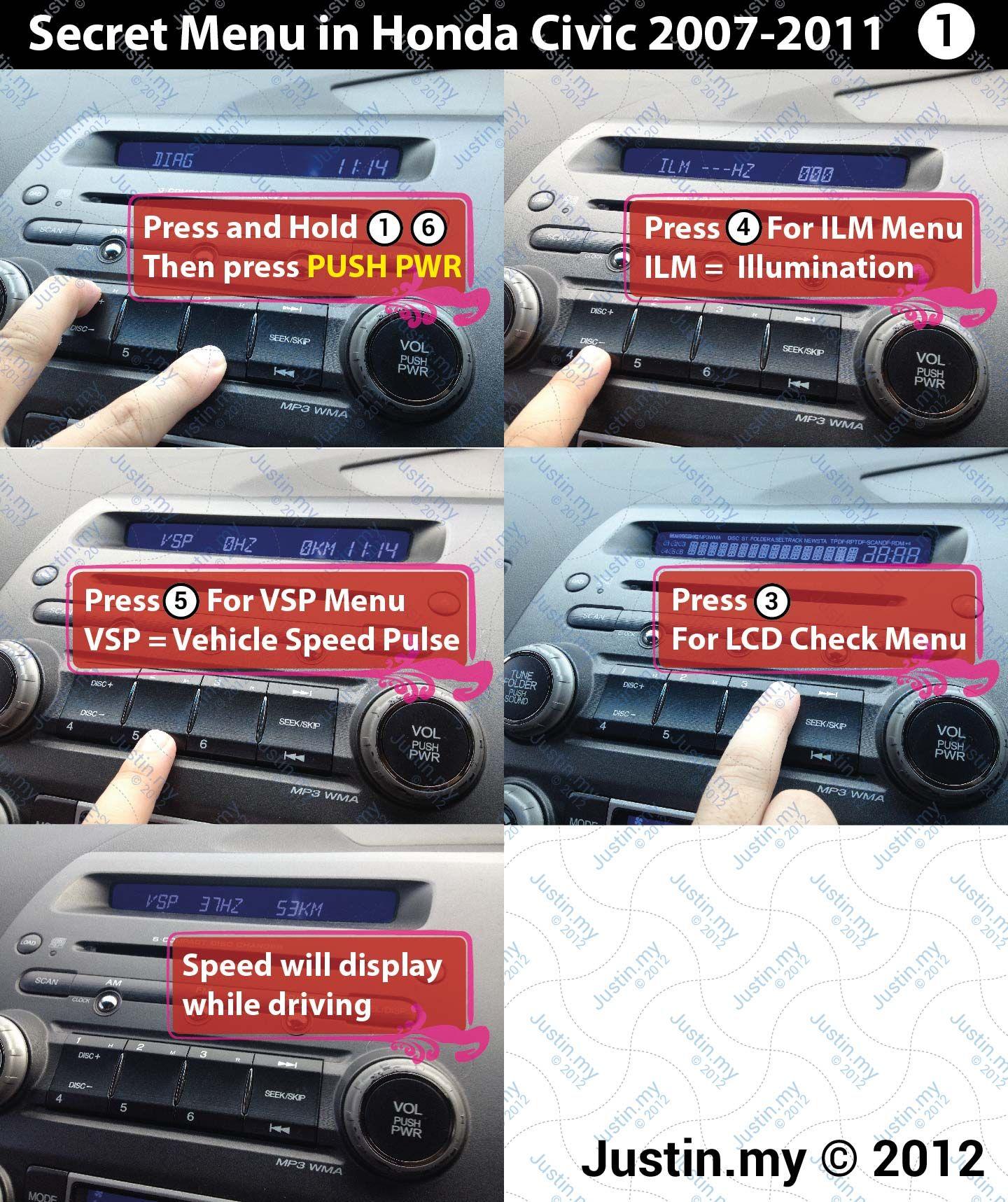 Secret Menu In Honda Civic 2007 2017 1 01 More