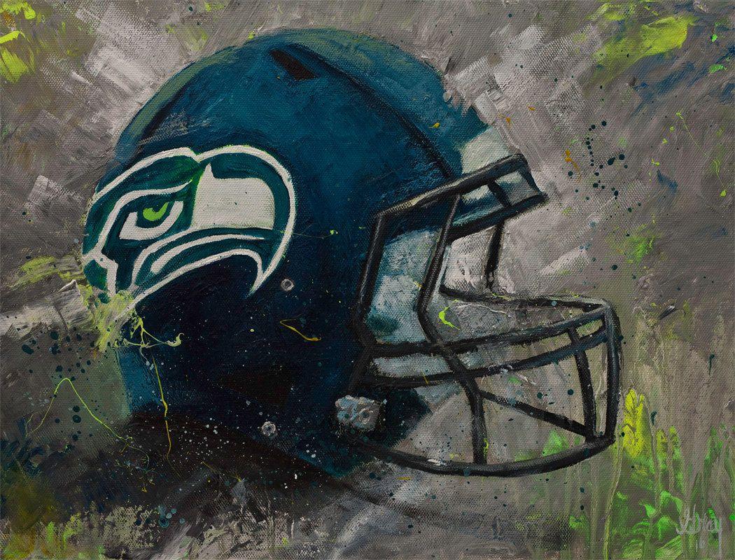 Seattle seahawks fan wall art giclee print on canvas football seattle seahawks fan wall art giclee print on canvas football sportsbar man cave wall amipublicfo Images