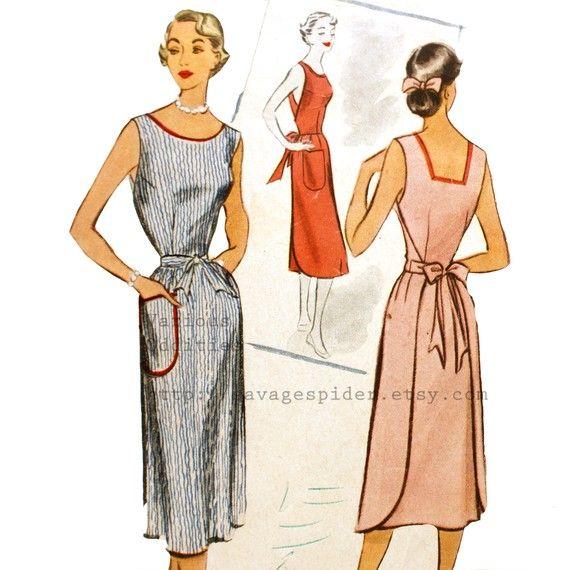 wrap dress pattern photo | 50s Vintage Wrap Dress Pattern McCall's by LovelyLepidopterae