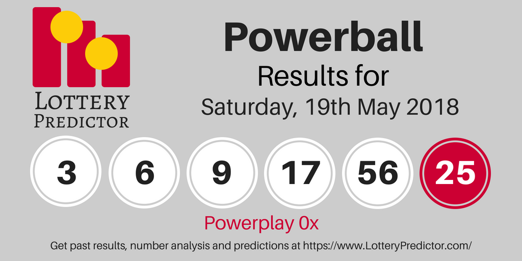 Powerball draw results for Saturday. 19th May 2018 3. 6. 9. 17. 56 Powerball 25 Powerplay 3x #powerball #lottery   Lottery drawing. Lottery ...