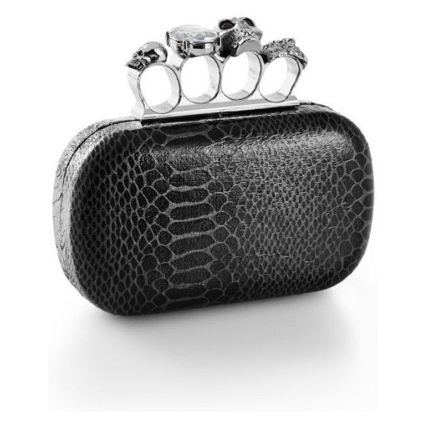 Venus Knuckle Clutch (39 CAD) ❤ liked on Polyvore featuring bags, handbags, clutches, chain handle handbags, clasp purse, knuckle purse, knuckle handbag and knuckle clutches
