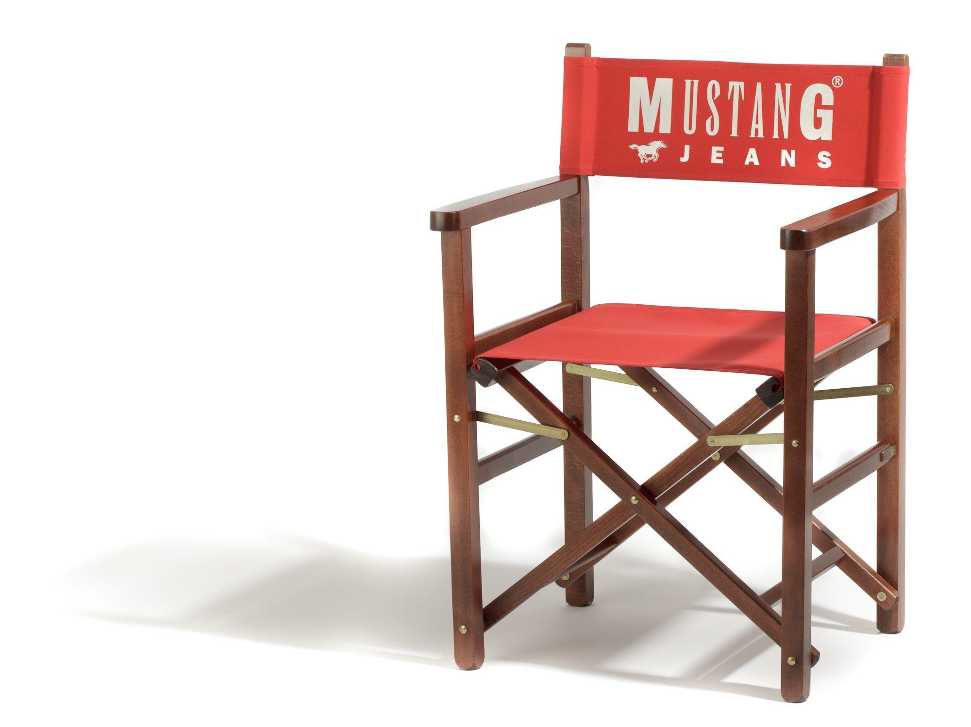 regiestuhl oscar mit mustang branding. Black Bedroom Furniture Sets. Home Design Ideas