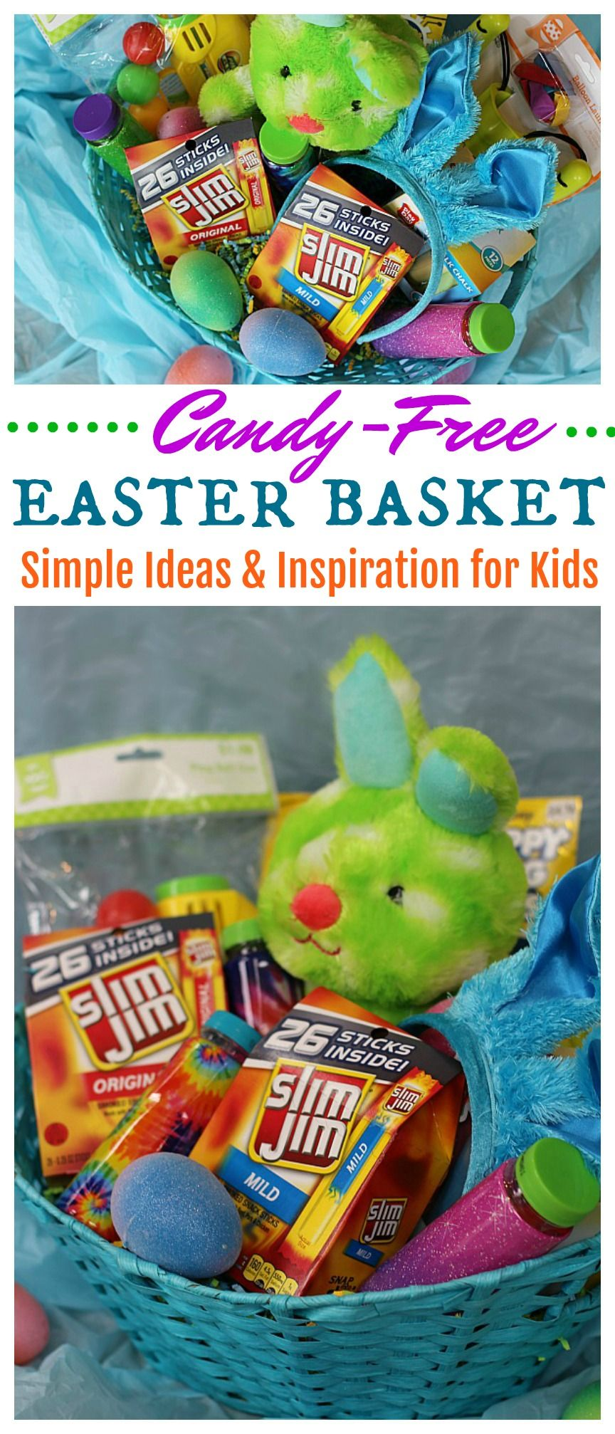 Are you looking for the perfect easter basket ideas why not go are you looking for the perfect easter basket ideas why not go candy free with slim jim from walmart once youve created your perfect candy free easter negle Image collections
