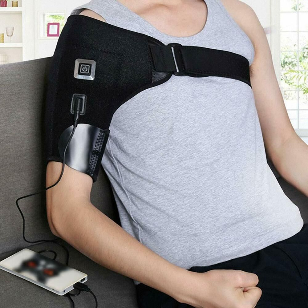 Heated Shoulder Brace Support Wrap 3 Settings Heating Pad