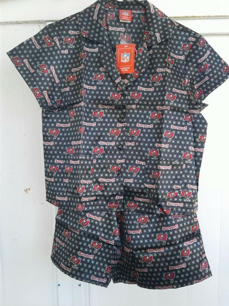 a1b76388 Tampa Bay Buccaneers NFL For Her Silky Pajama Set Camp Shirt ...