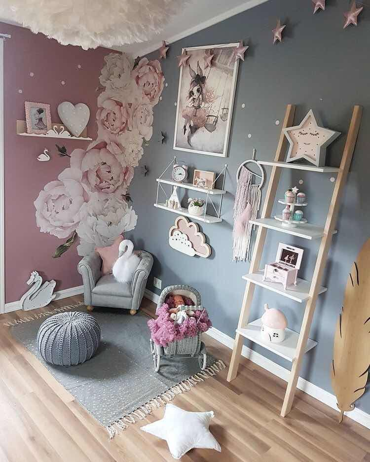 Como Decorar Un Cuarto De Juegos Para Ninas Moderno Y Con Estilo Baby Room Decor Modern Childrens Room Kid Room Decor