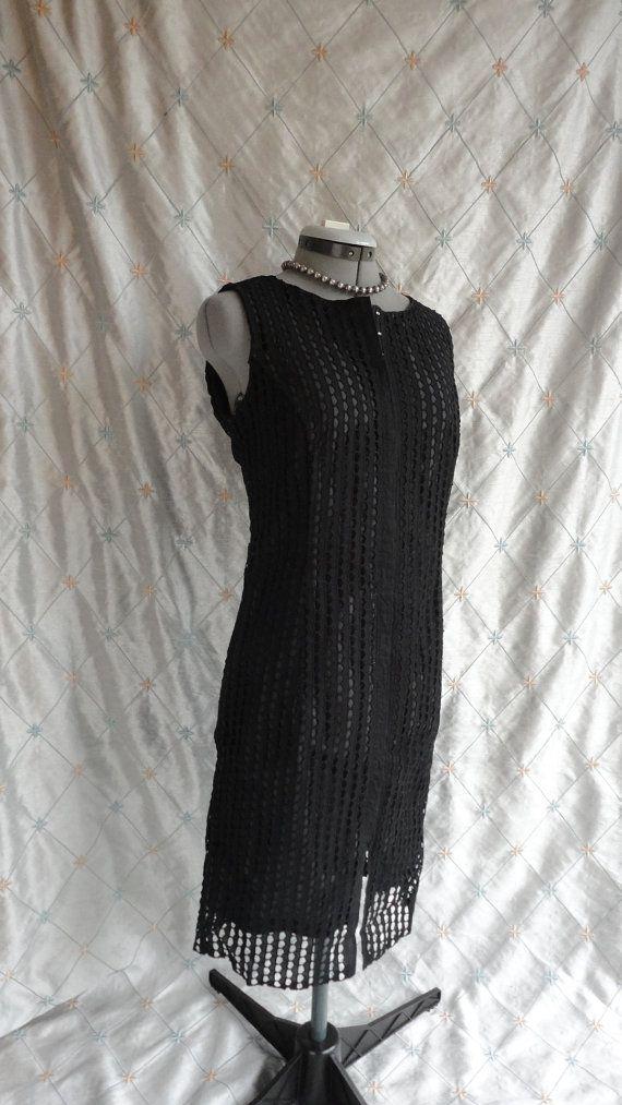 80s Dress //  Vintage 1980s Black Sleeveless by ChiffonLounge, $97.00