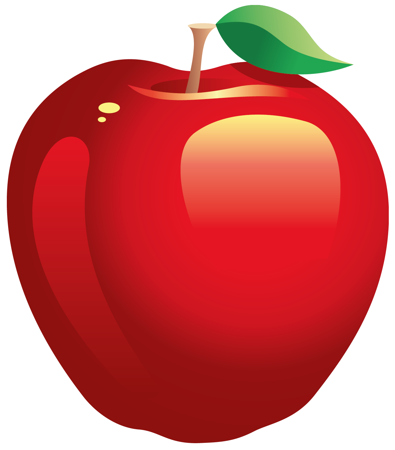 Large Painted Red Apple PNG Clipart Apple picture, Apple