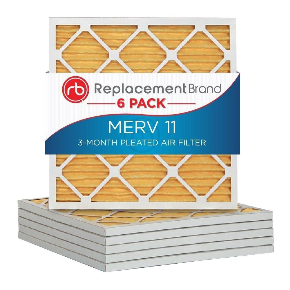 Replacementbrand 16 In X 20 In X 1 In Merv 11 Air Purifier Replacement Filter 6 Pack Rb P15s 611620 Air Purifier Filters Furnace Filters